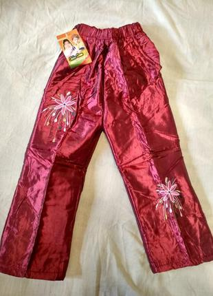 Теплые демисезонные, еврозима штаны брюки недорого