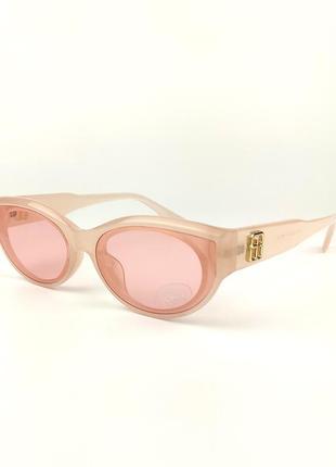 Солнцезащитные очки flyby «carolina» c розовой роговой оправой