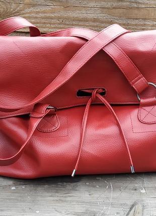 Большая сумка шоппер, на длинных ручках.