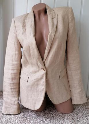 Льняной пиджак фирмы zara