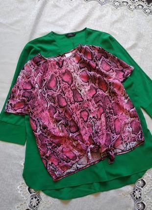 Блуза укороченная топ принтованный