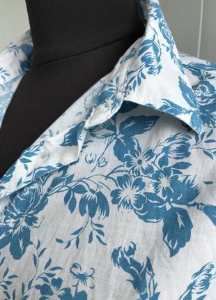 Рубашка сорочка блузка в цветочный принт benetton