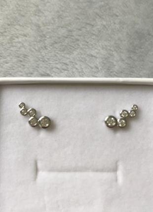 Очень милые серьги серебро 925 проба