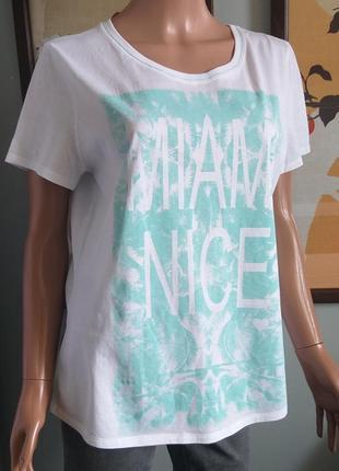 Ультралегкая футболка с мелкими пайетками marc cain размер l