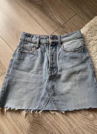 Спідниця джинсова юбка bershka 32