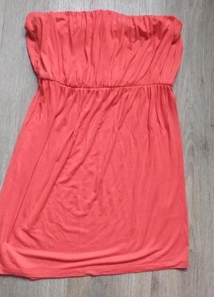 Красивое лёгкое летнее платье красное без брителек м