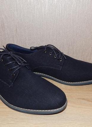 Туфли мужские defacto однотонные темно-синие кэжуал