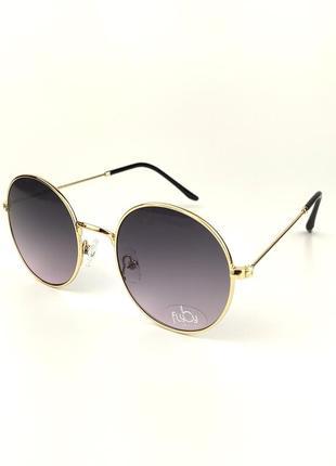 Солнцезащитные очки flyby «lolipop» с золотой металлической оправой