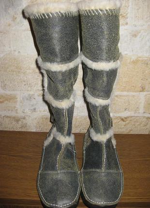Стильні зимові чобітки tom tailor з натуральної шкіри в ідеальному стані