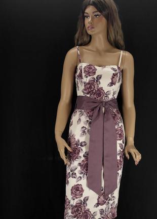 """Красивейшее брендовое платье """"coast"""" с цветочным принтом. размер uk10."""
