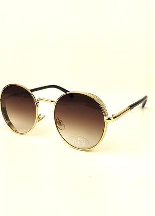 Солнцезащитные очки flyby «palm» в золотой металлической оправе