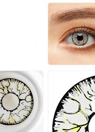 """Линзы для глаз """"мозг"""", пара + контейнер для линз в подарок"""