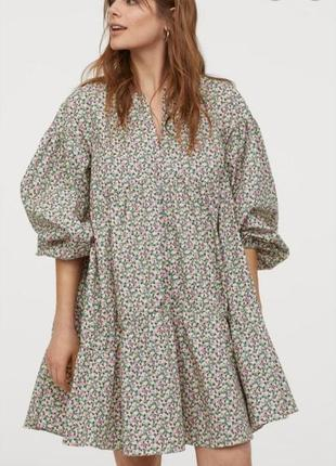 Летнее оверсайз ,бохо платье,плаття сукня с пишнимы рукавами h&m (zara)