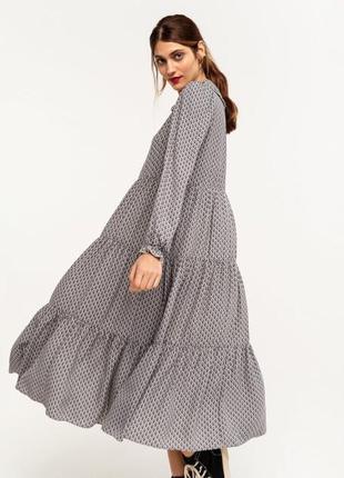 Потрясающего качества шифоновое ярусное платье в пол на подкладке !))