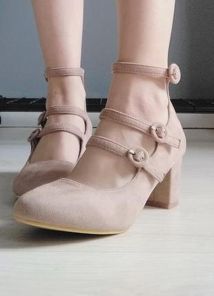 Tm. cucu fashion бежевые классические туфли с ремешками