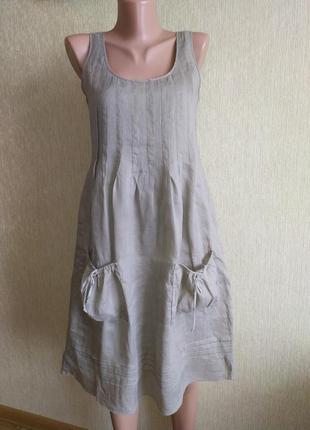 Фирменный летний натуральный сарафан платье, р. 34,36