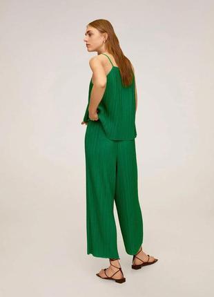 Плиссированные брюки кюлоты mango - s, m, l, xl5 фото