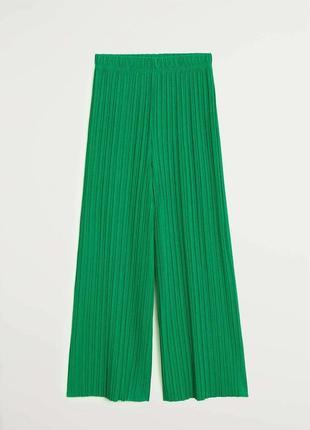 Плиссированные брюки кюлоты mango - s, m, l, xl6 фото