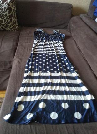 Платье-сарафан макси, размер 50