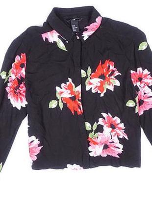 Стильная, красивая блуза, рубашка, женская в цветочный принт 32, 34 4, 6 xxs, xs