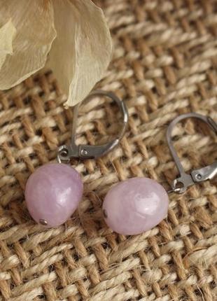 Сережки з аметисту ніжного, бузкового кольору 🌸