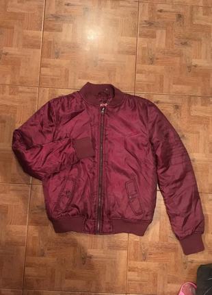 Бомбер, куртка тёплая, курточка фирменная