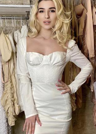 Белое хлопковое платье oh polly