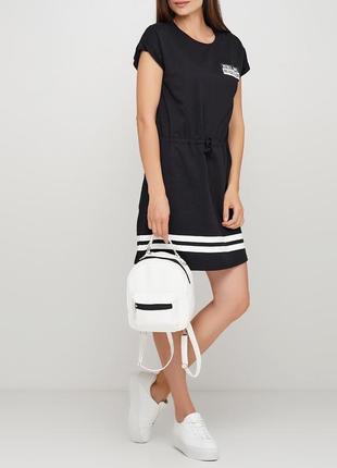 Новинка ! женский маленький стильный белый рюкзак трансформер для города