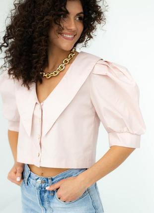 Блузка с рукавами-фонариками и воротником