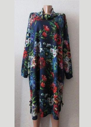 Красивое платье флаве, большой размер!