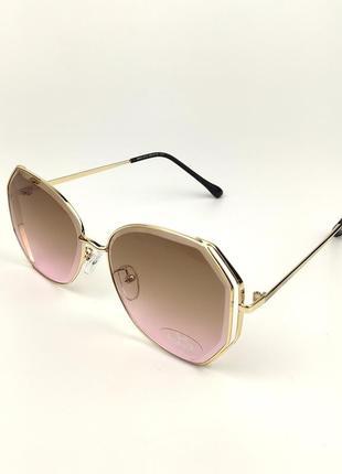 Солнцезащитные очки flyby «strong» с золотой металлической оправой