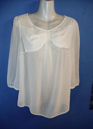 Шифон блуза с бантом секси