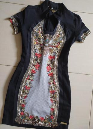 Платье/ нарядное платье/ вечернее платье/ платье со стразами/ приталенное платье