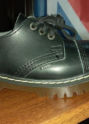 Туфлі steel 101/102/al/ken black smooth унісекс черевики стіли шкіра