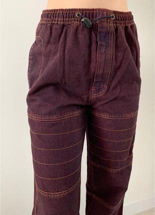 Джинси з великими кишенями, модні джинси, брюки,штани трендові, джинсы коттоновые.
