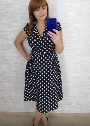 Платье на запах для беременных и пышных красоток