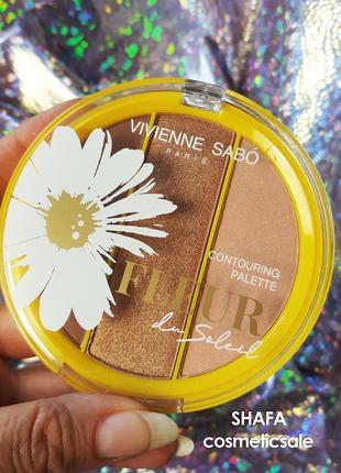 Палетка для скульптурирования лица vivienne sabo fleur du soleil contouring palette