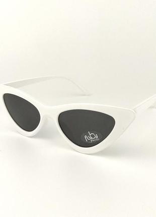 Солнцезащитные очки flyby «type» белой роговой оправой и черной линзой