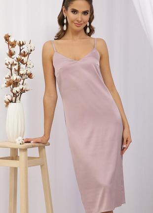 Платье комбинация миди женское