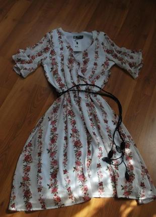 Кроасивенное шифоновое платье