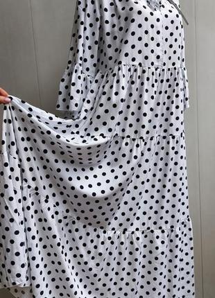 Платье оверсайз,сукня,плаття,сарафан,хлопковое,длинное в стиле бохо,в горошек,в горох