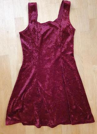 Платье бархат бордо