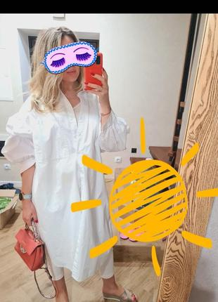 Платье рубашка туника коттон хлопок hm