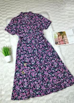 Платье-рубашка миди под поясок eastex