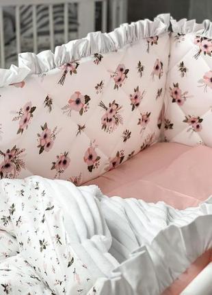 Детские наборчики для кровати - «flowers» супер качество !!!
