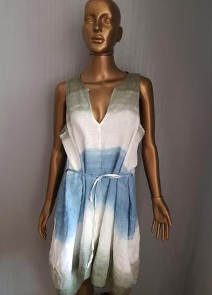 Платье лен италия