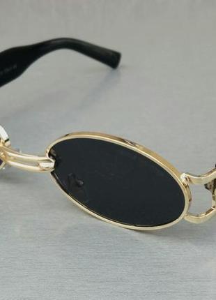 Gentle monster очки унисекс солнцезащитные модные узкие овальные черные в золоте