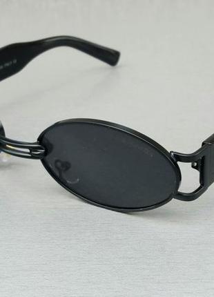 Gentle monster очки унисекс солнцезащитные модные узкие овальные черные в черной металлической оправе
