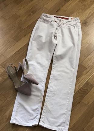 Білі джинси брюки котонові штани белые джинсы штаны