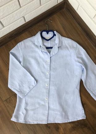 1+1=3 рубашка hennes,100 %лен